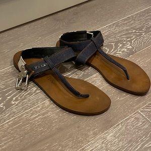 Brand new Burberry flat strappy sandal